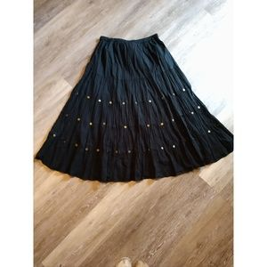Black boho skirt size 14/16